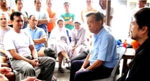 Sen. Trillanes with Sen. Pimentel and Atty. JV Bautista